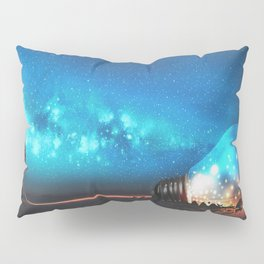 Fantasy Illustration Graphic Design Anime Japanese Inspired World Landscape 'Carrying My Thoughts' Pillow Sham