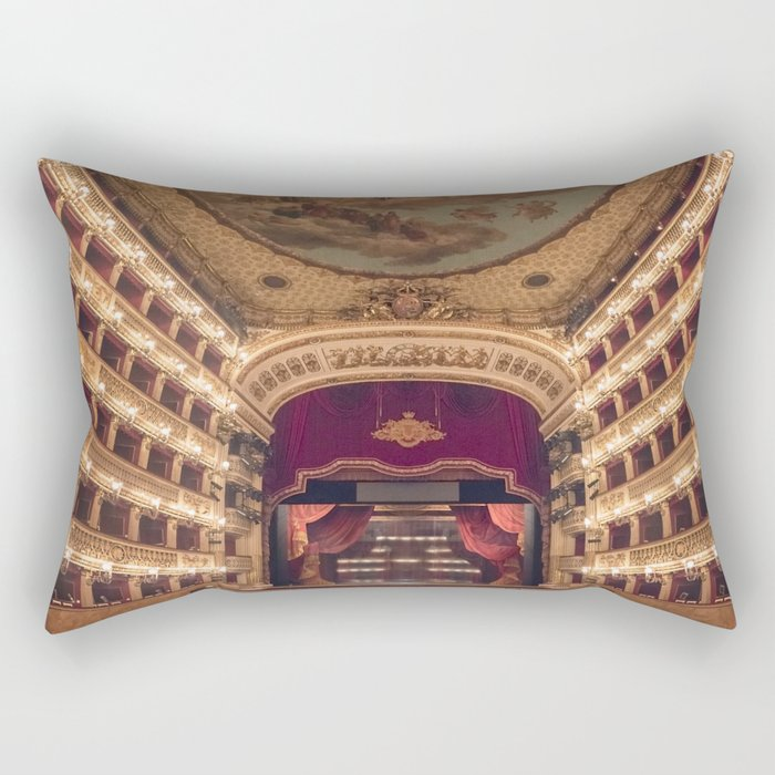 Teatro San Carlo Rectangular Pillow