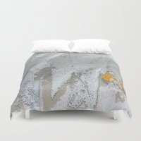 snow white Duvet Covers featuring White snow by dominiquelandau