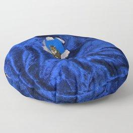 She Tore Blue Velvet Floor Pillow