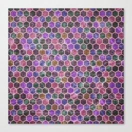 Colorful Hexagon Seamless Pattern #02 Canvas Print