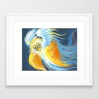 good omens Framed Art Prints featuring Good Omens: Aziraphale (True Form) by Katerina Romanova