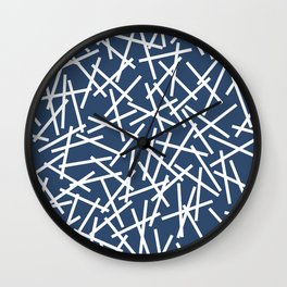Kerplunk Navy and White Wall Clock