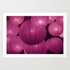 Bubble lights Art Print