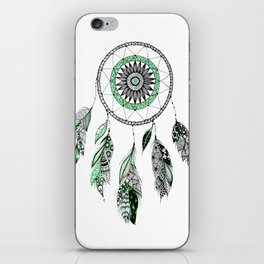 Green dreamcathcer iPhone Skin