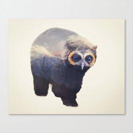 Owlbear in Mountains Canvas Print