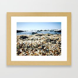 Glass Beach Closeup Framed Art Print