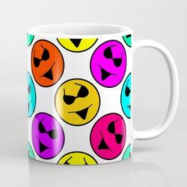 Smiley Bikini Bright Neon Smiles on White Coffee Mug