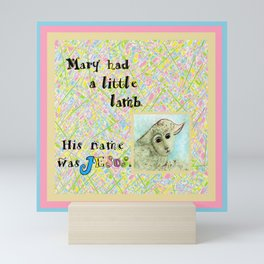 Mary Had a Little Lamb Mini Art Print
