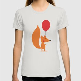 Fox With A Red Balloon T-shirt