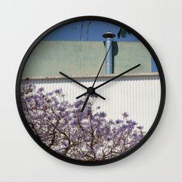Jacaranda, Lisbon street Wall Clock