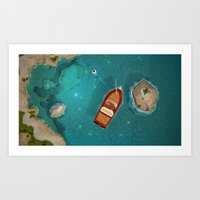 Estate a Capri Art Print