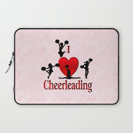 I Heart Cheerleading Laptop Sleeve