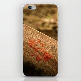 In particular wood iPhone Skin