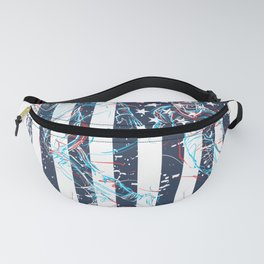 USA American Football Player In Action Fanny Pack