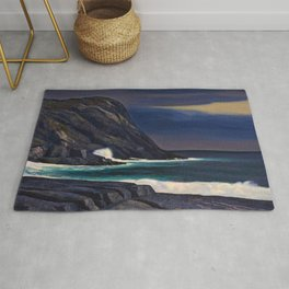 Classical Masterpiece Brewing Storm, Monhegan Island, Maine by Rockwell Kent Rug