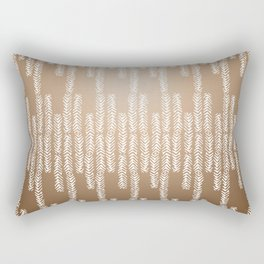 Eye of the Magpie tribal style pattern - gold Rectangular Pillow