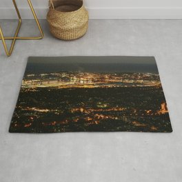 Port Kembla Wollongong at night Rug