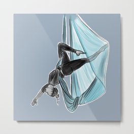 aerial yoga // upside down is right side up Metal Print