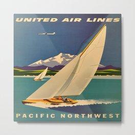 Vintage poster - Pacific Northwest Metal Print