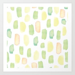 Pastel colors brushstrokes pattern Art Print