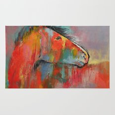 Red Horse Rug