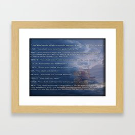 10 Commandments  Framed Art Print