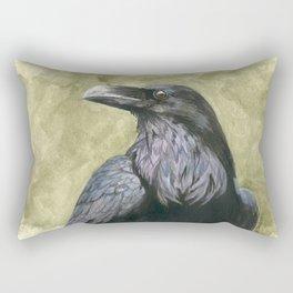 Proud Raven - Watercolor Rectangular Pillow