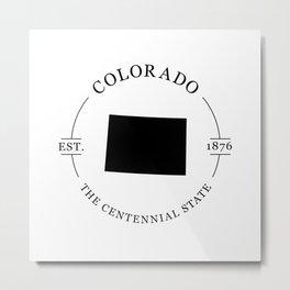 Colorado - The Centennial State Metal Print