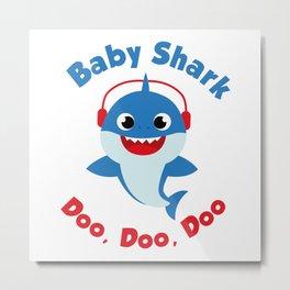 Music Baby Shark doo doo Metal Print