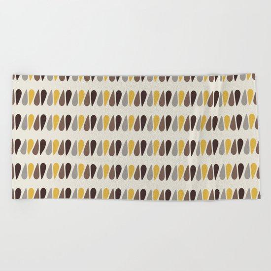 Pattern black brawn yellow Beach Towel