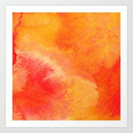 Orange watercolor paint vector background Art Print