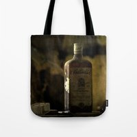 whisky Tote Bags featuring Ballantines Finest Scotch Whisky by AliceArtDotCom