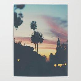 Sunset in Balboa Park print Poster