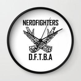 The Nerdfighter symbol Wall Clock