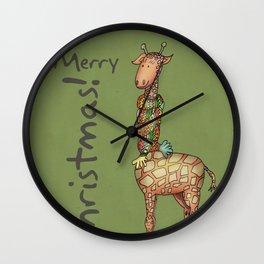 Cleo - green Wall Clock