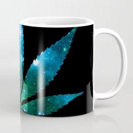 Weed : High Times Blue Green Galaxy Coffee Mug