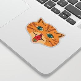 Kiss Me Ginger Cat Sticker