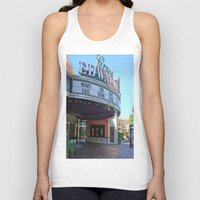 movies Tank Tops featuring Day at the movies by Debra Slonim Art & Design