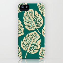 Midnight Philodendron iPhone Case