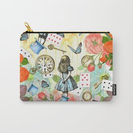 Alice In Wonderland Vivid Collage Carry-All Pouch