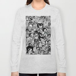 Ahegao hentai faces Long Sleeve T-shirt