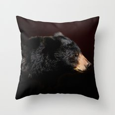 Young Black Bear Portrait Throw Pillow