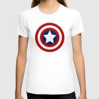 superhero T-shirts featuring Superhero captain by Yuliya L