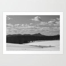 Sauratown Mountain Range Snow Art Print