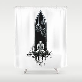 Degrees of separation Shower Curtain