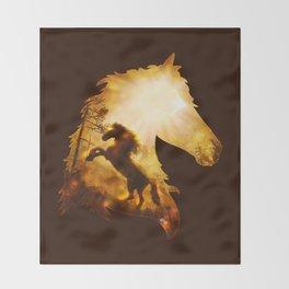 Wild Spirit Throw Blanket