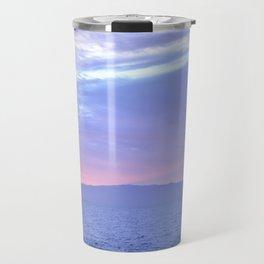 Rose Quartz and Serenity sunset. Travel Mug
