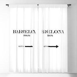 Barcelona - Spain Blackout Curtain