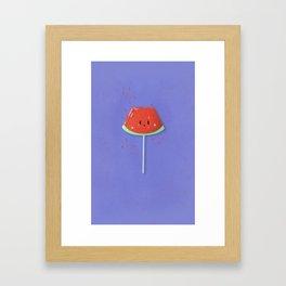 Watermelon Candy Cutie Framed Art Print